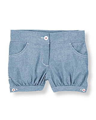 Light Chambray Cuffed Chambray Short at JanieandJack