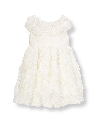 French Ivory Organza Rosette Dress at JanieandJack