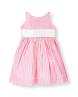 Blossom Pink Gingham Gingham Silk Duppioni Dress at JanieandJack