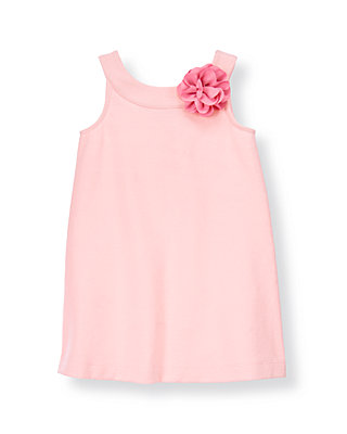 Rosebud Pink Corsage Ponte Dress at JanieandJack