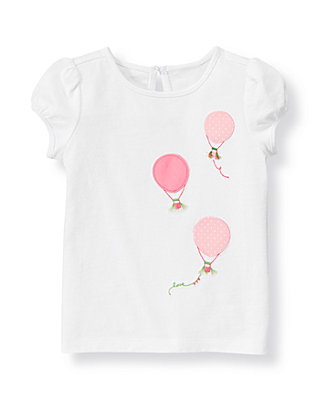 Pure White Hot Air Balloon Top at JanieandJack