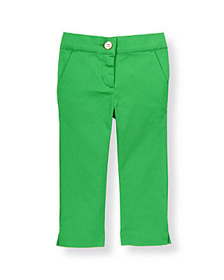 Fairway Green Colored Crop Pant at JanieandJack