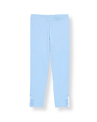 French Blue Button Eyelet Cuff Legging at JanieandJack