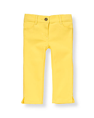 Daffodil Yellow Colored Crop Pant at JanieandJack