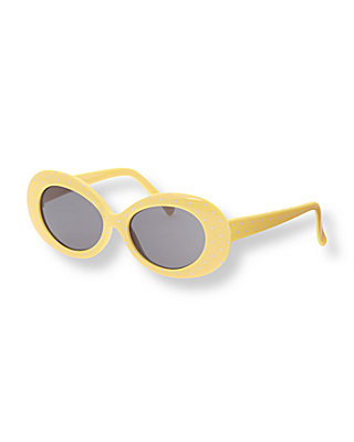 Canary Yellow Dot Dot Sunglasses at JanieandJack