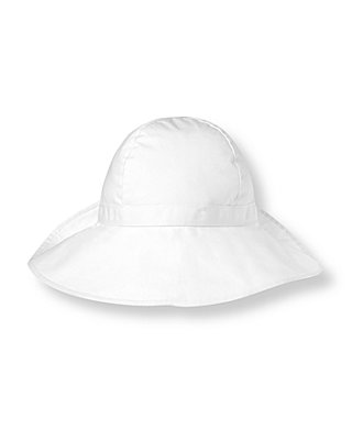 Pure White Bow Poplin Hat at JanieandJack