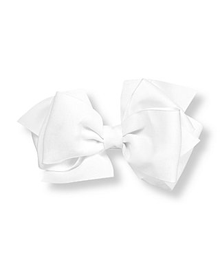 Pure White Bow Barrette at JanieandJack