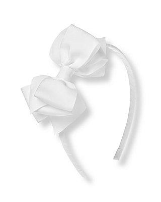 Pure White Bow Headband at JanieandJack