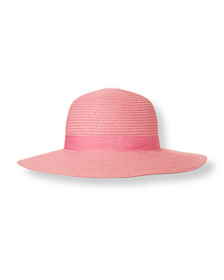 Blossom Pink Bow Straw Hat at JanieandJack