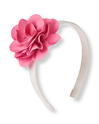Blossom Pink Flower Corsage Headband at JanieandJack