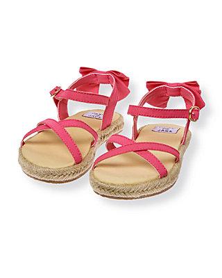 Blossom Pink Bow Espadrille Sandal at JanieandJack