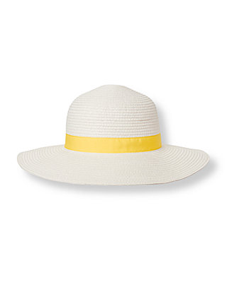 Pure White Bow Straw Sunhat at JanieandJack