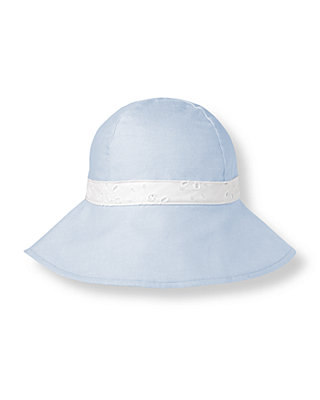 Oxford Blue Eyelet Bow Oxford Hat at JanieandJack