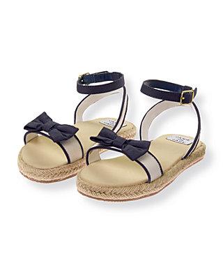 Navy/Khaki Bow Espadrille Sandal at JanieandJack
