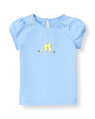 French Blue Bow Bunny Knit Top at JanieandJack