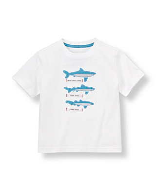 Pure White Shark Tee at JanieandJack