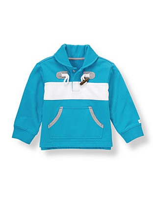 Reef Blue Toggle Terry Pullover at JanieandJack