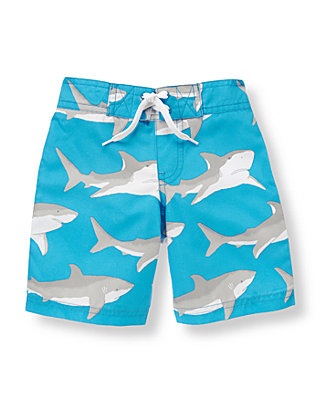 Reef Blue Shark Swim Trunk at JanieandJack