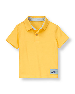 Mango Yellow Jersey Polo Shirt at JanieandJack