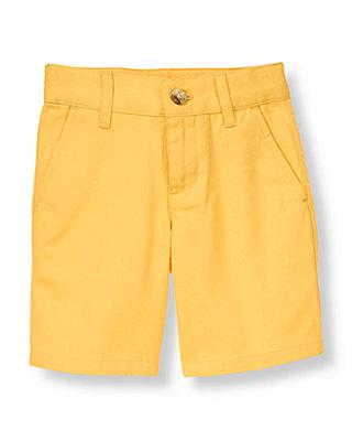 Boys Mango Yellow Twill Short at JanieandJack