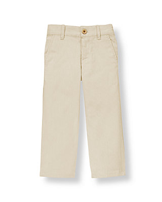 Boys Khaki Stripe Corded Stripe Pant at JanieandJack