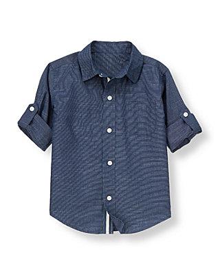 Indigo Chambray Indigo Chambray Roll Cuff Shirt at JanieandJack