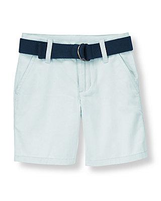 Boys Pale Blue Belted Short at JanieandJack