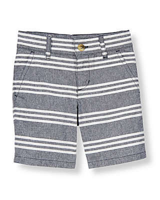 Sunwashed Navy Stripe Striped Short at JanieandJack