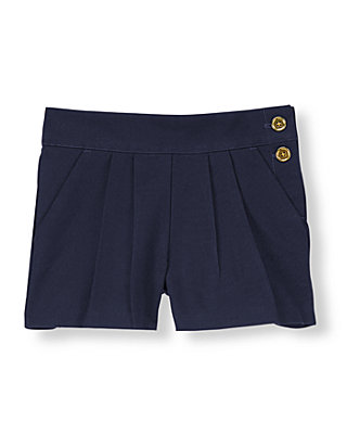 Summer Navy Pleated Short at JanieandJack