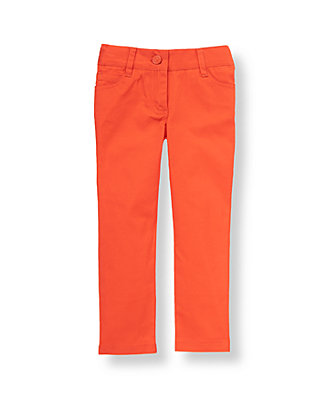 Bright Coral Colored Crop Pant at JanieandJack