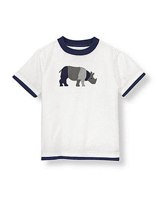 Pure White Rhino Tee at JanieandJack