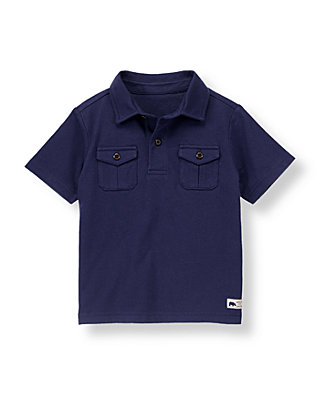 Midnight Navy Camp Shirt at JanieandJack