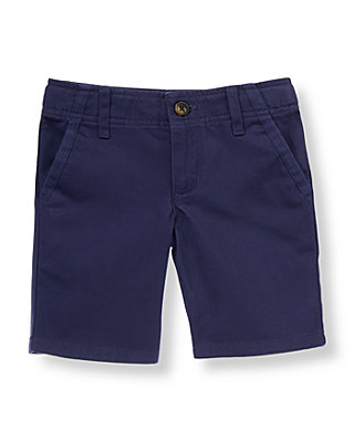 Midnight Navy Twill Short at JanieandJack