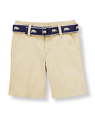 Khaki Rhino Belted Short at JanieandJack