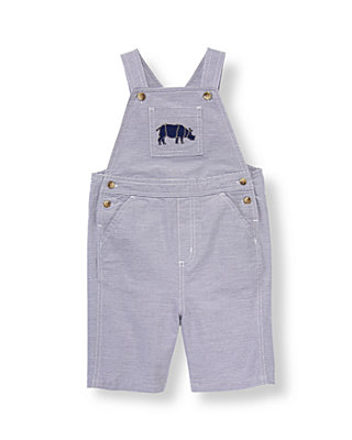 Boys Midnight Navy Stripe Rhino Striped Shortall at JanieandJack