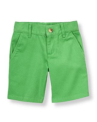 Leaf Green Twill Short at JanieandJack