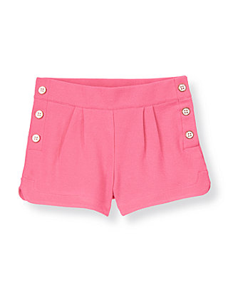 Parrot Pink Button Pique Short at JanieandJack