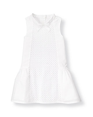 Pure White Circle Embroidered Voile Dress at JanieandJack