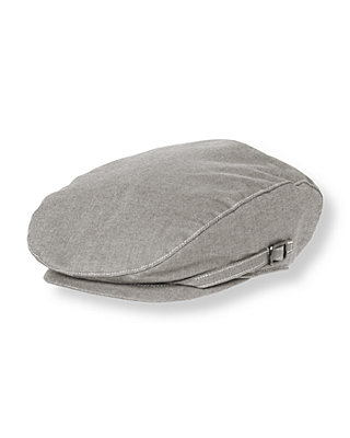 Boys Grey Oxford Oxford Cap at JanieandJack