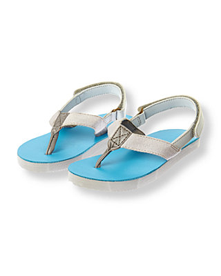 Grey/Reef Blue Flip Flop at JanieandJack