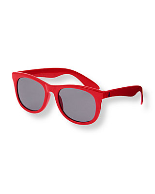 Boys Buoy Red Classic Sunglasses at JanieandJack