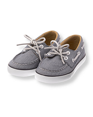 Marine Navy Dot Canvas Boat Shoe at JanieandJack