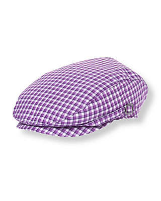 Violet Check Checked Cap at JanieandJack