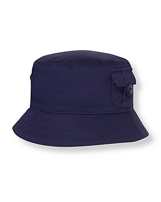Midnight Navy Pocket Bucket Hat at JanieandJack