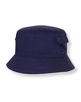 Midnight Navy Pocket Bucket Hat at JanieandJack