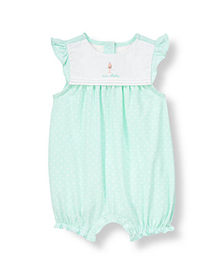 Baby Girl Parisian Blue Dot Cupcake Dotted One-Piece at JanieandJack