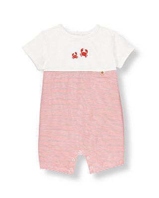 Baby Boy Crab Red Stripe Crab Striped One-Piece at JanieandJack