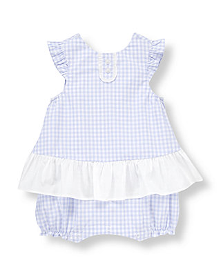 Baby Girl Lavender Check Skirted Gingham One-Piece at JanieandJack