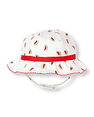 White Watermelon Bow Watermelon Hat at JanieandJack