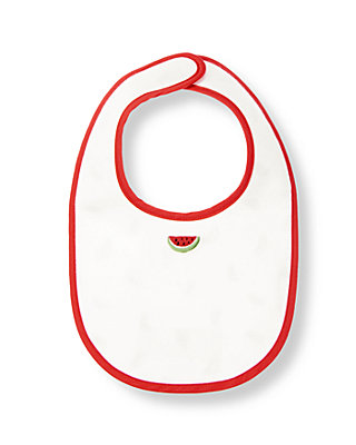 Pure White Watermelon Bib at JanieandJack